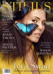Stilius Plius viršelis su Kupu Kupu tropiniais drugeliais